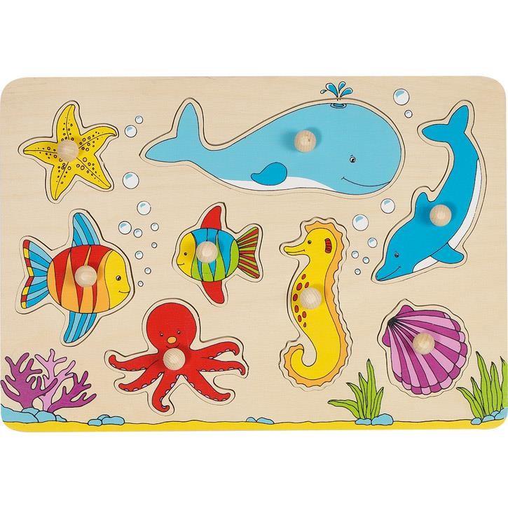 Goki Steckpuzzle Unterwasserwelt 57953 1+ Holz