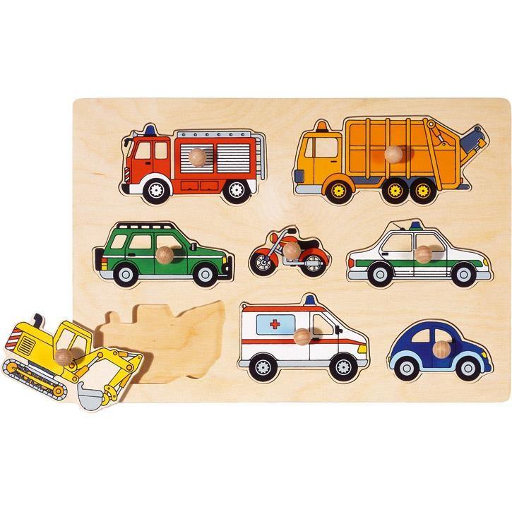 Goki Steckpuzzle Verkehrsmittel 57996 1+ Holz