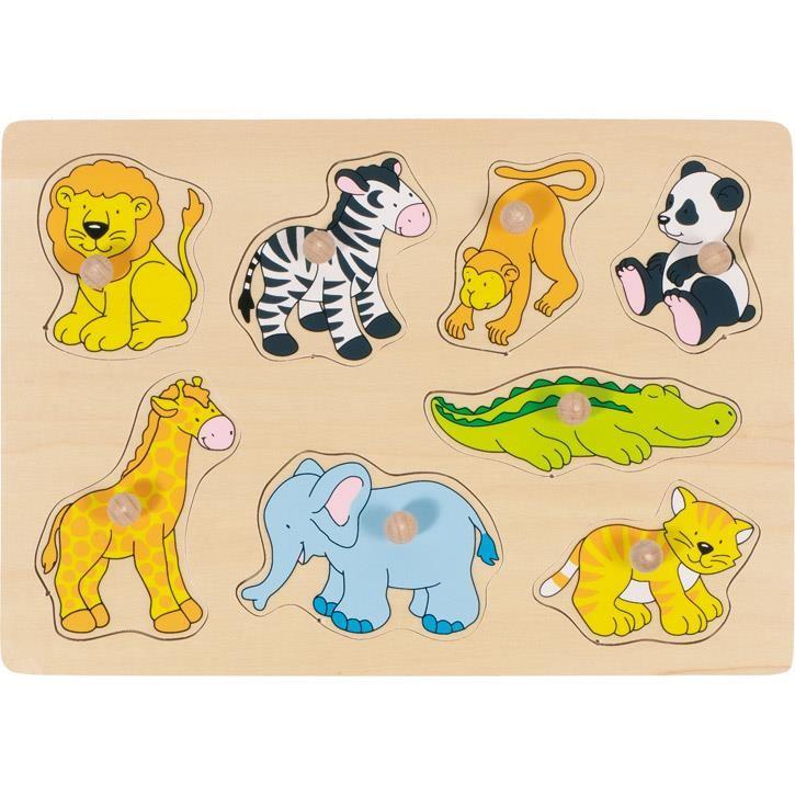 Goki Steckpuzzle Zootiere 57874 1+ Holz