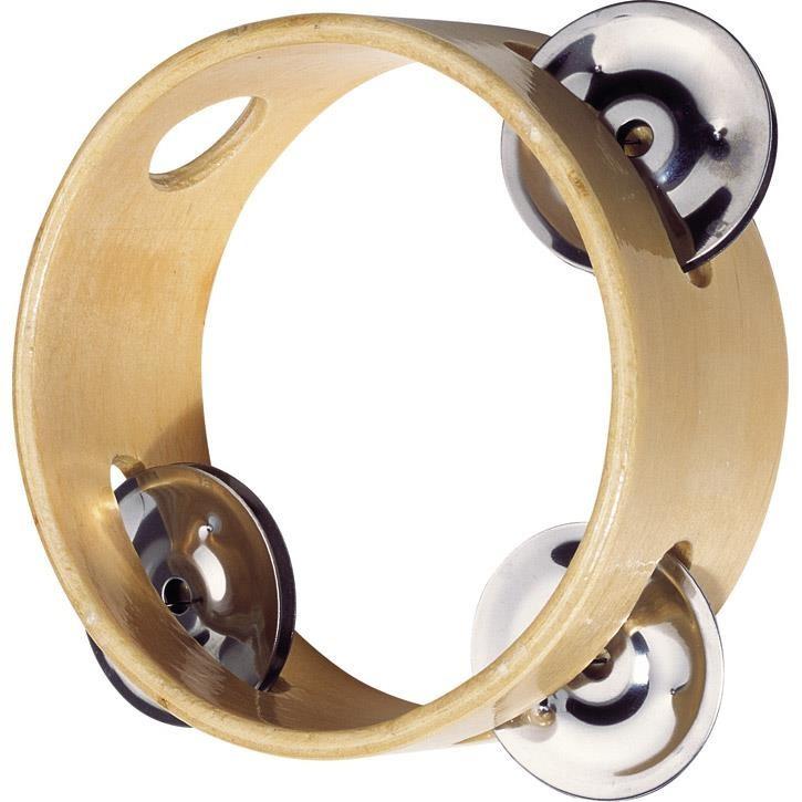 Goki Tamburin mit 3 Schellen UC087 3+ Holz, Metall