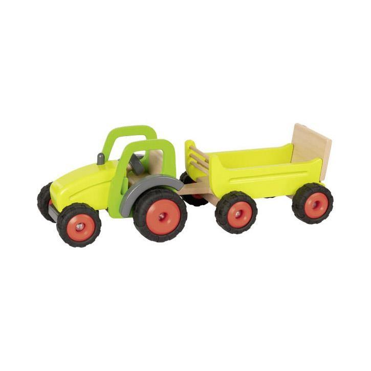 Goki Traktor mit Anhänger 55886 3+ Holz