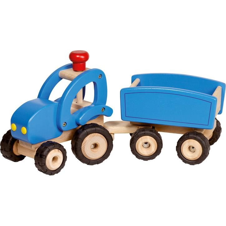 Goki Traktor mit Anhänger 55925 3+ Holz