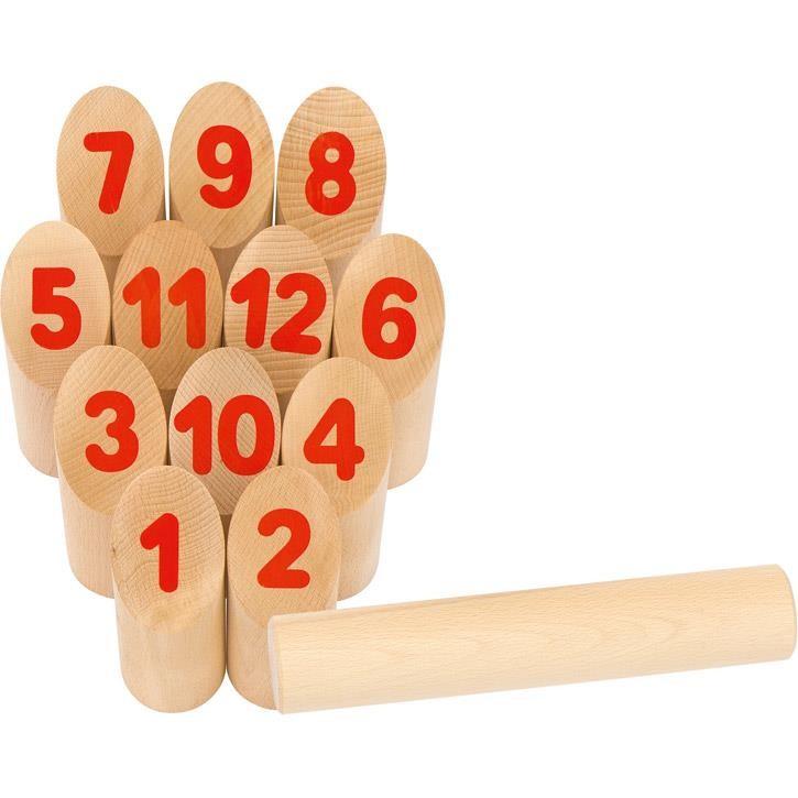 Goki Wikingerspiel Number Kubb, im Baumwollbeutel 56853 5+ Holz