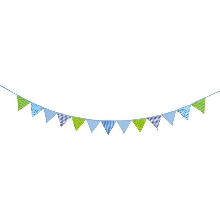 Goki Wimpelkette blau-grün 60767 0+ Textil