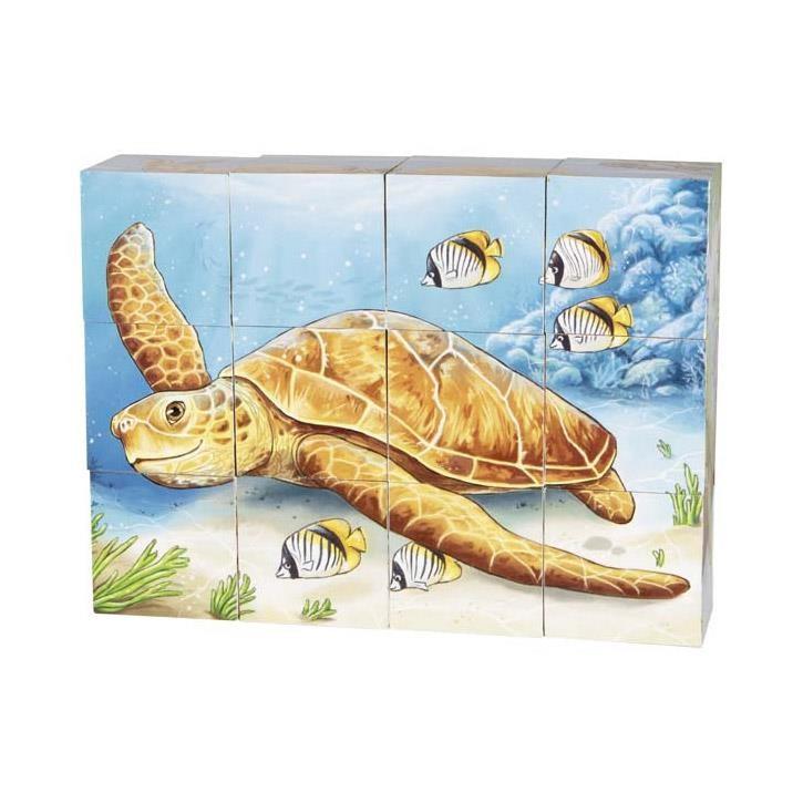 Goki Würfelpuzzle Australische Tiere 57418 3+ Holz