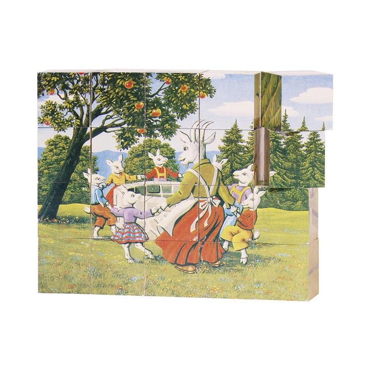 Goki Würfelpuzzle Märchen 57877 3+ Holz