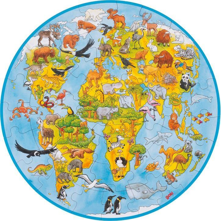 Goki XXL Puzzle Welt 57711 4+ Pappe