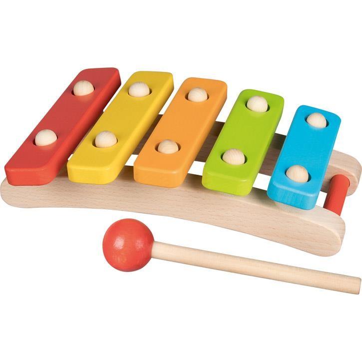 Goki Xylophon mit 5 Tönen 61968 1+ Holz