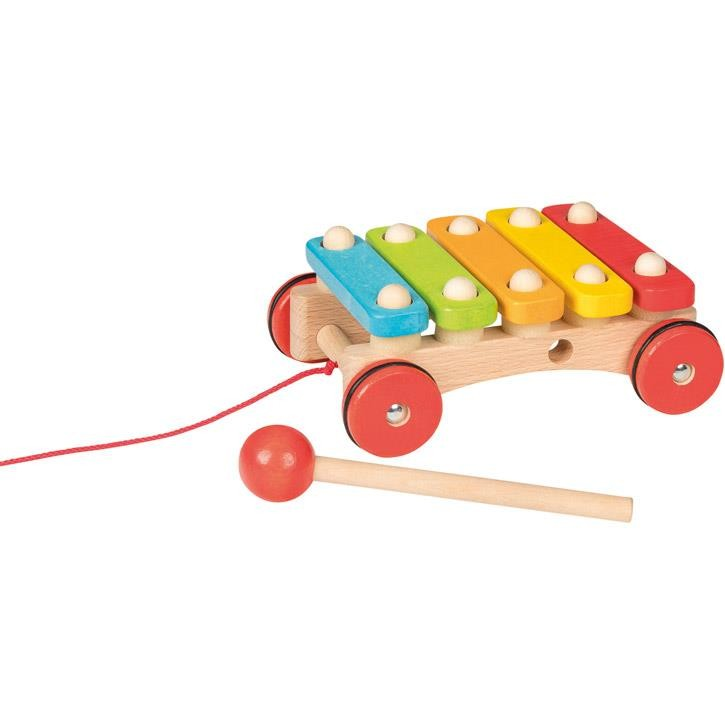 Goki Xylophon mit Rädern 61894 1+ Holz