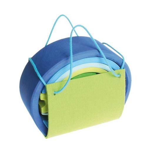 Grimms Bauhaus, blau-grün