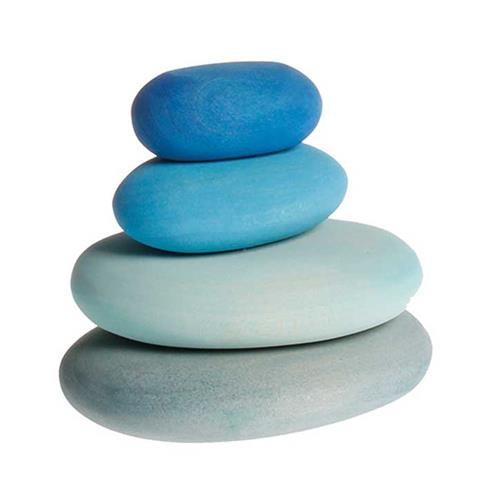 Grimms Bauset Flußkiesel, Blautöne, 4 Teile