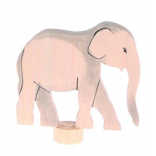 Grimms Stecker Elefant, , handbemalt