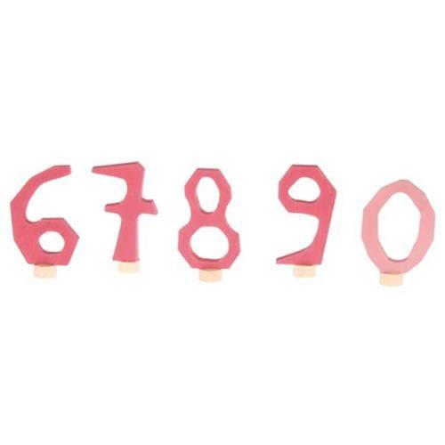 Grimms Zahlenstecker Set 6-9 & 0, rosa