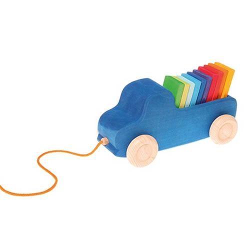 Grimms Blauer Lastwagen zum Nachziehen