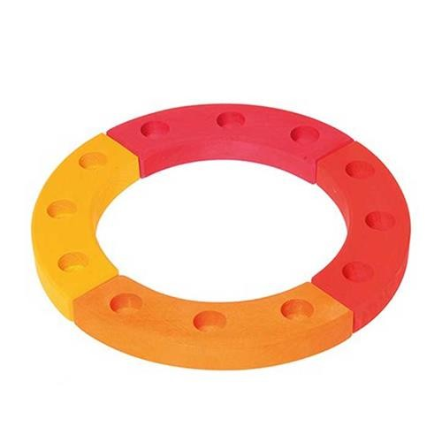 Grimms Geburtstagsring 12 Jahre, gelb-orange-rot