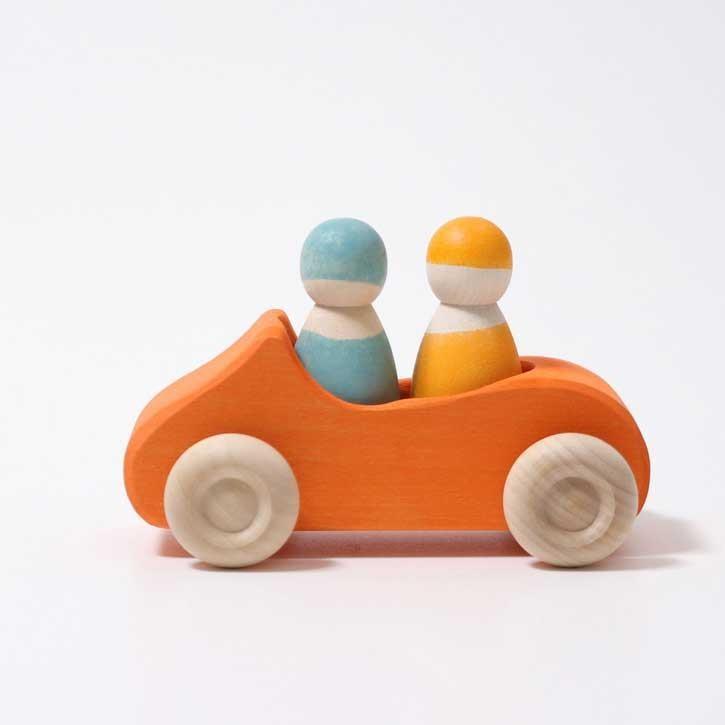 Grimms Holzauto Großes Cabrio Orange