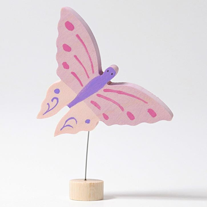 Grimms Stecker Rosa Schmetterling, handbemalt