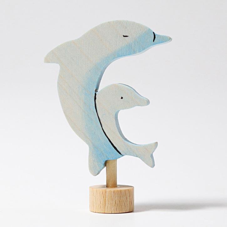 Grimms Stecker zwei Delphine, handbemalt