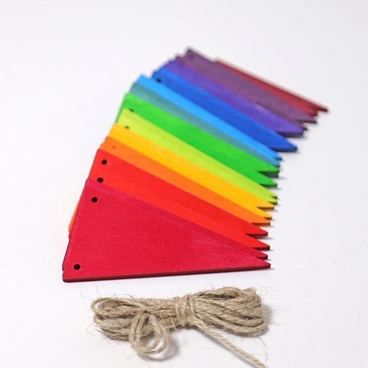 Grimms Wimpelkette regenbogenfarben