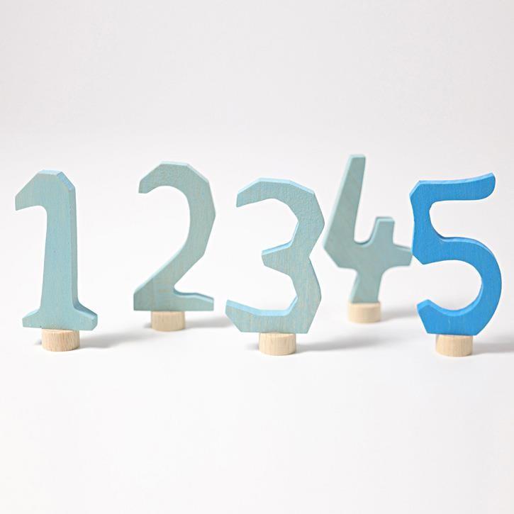 Grimms Zahlenstecker Set 1-5, blau