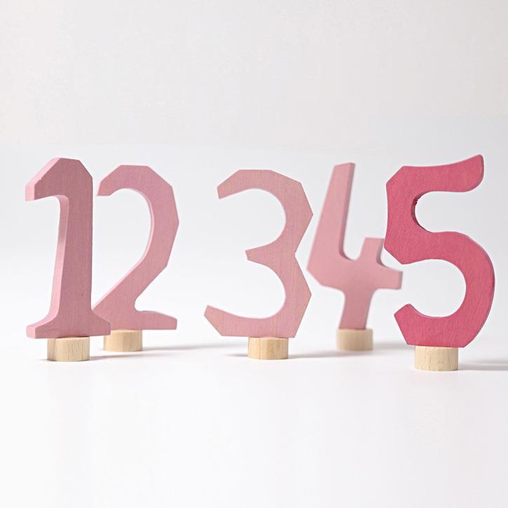 Grimms Zahlenstecker Set 1-5, rosa