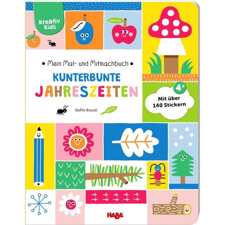 Haba Kreativ Kids  Mein Mal-und Mitmachbuch Kunterbunte Jahreszeiten