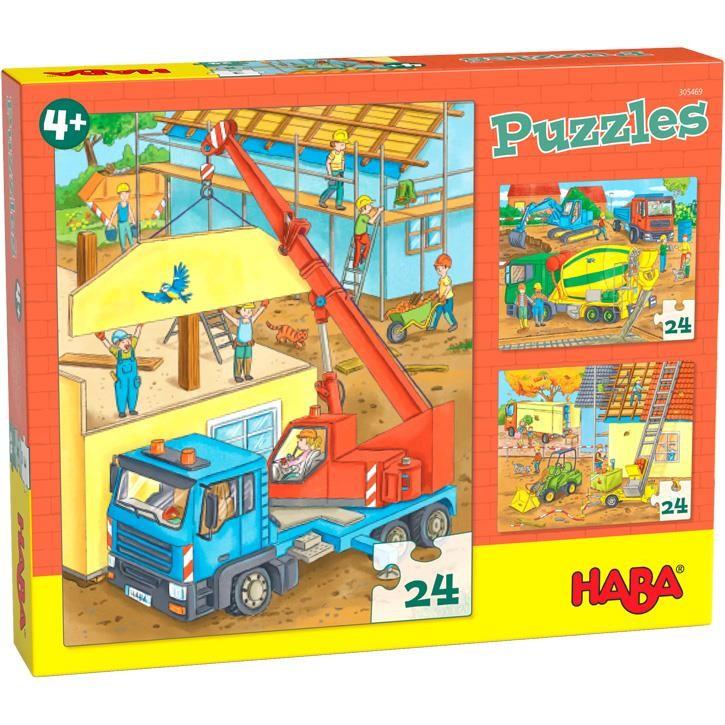 Haba Puzzel Auf der Baustelle