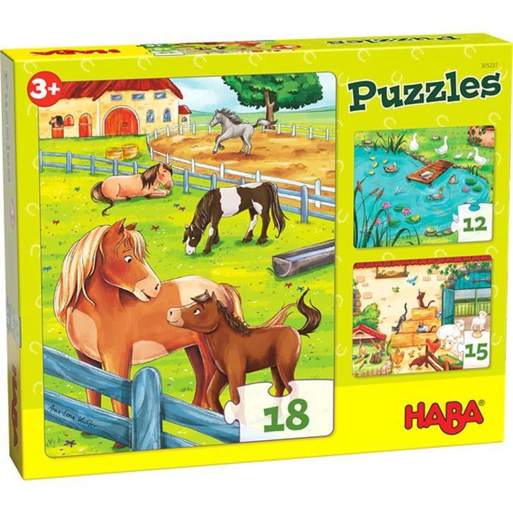 Haba Puzzles Bauernhoftiere