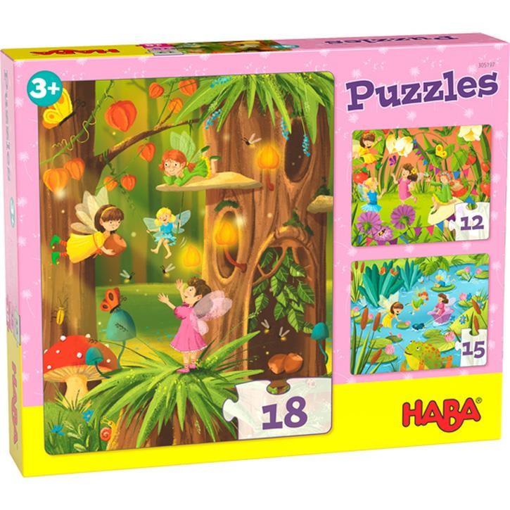 Haba Puzzles Glitzerndes Feenland