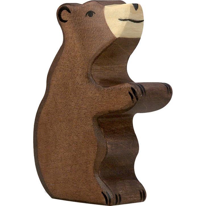HOLZTIGER Braunbär, klein, sitzend 80186 3+ Holz