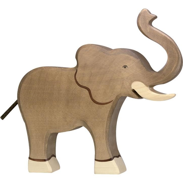 HOLZTIGER Elefant, Rüssel hoch 80148 3+ Holz