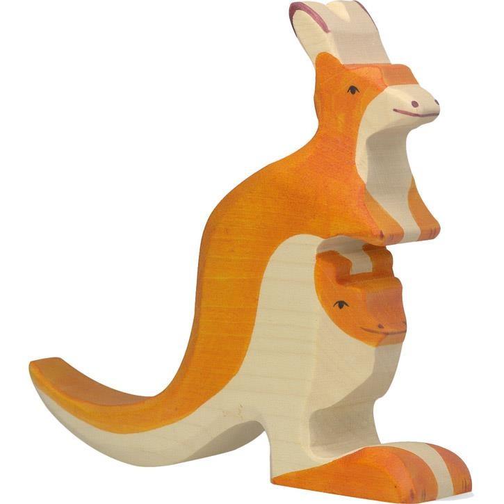 HOLZTIGER Känguruh mit Jungem 80193 3+ Holz
