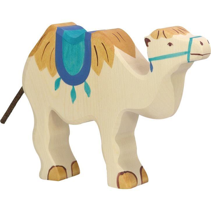 HOLZTIGER Kamel mit Sattel 80165 3+ Holz