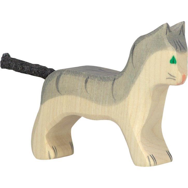 HOLZTIGER Katze, klein, grau 80056 3+ Holz