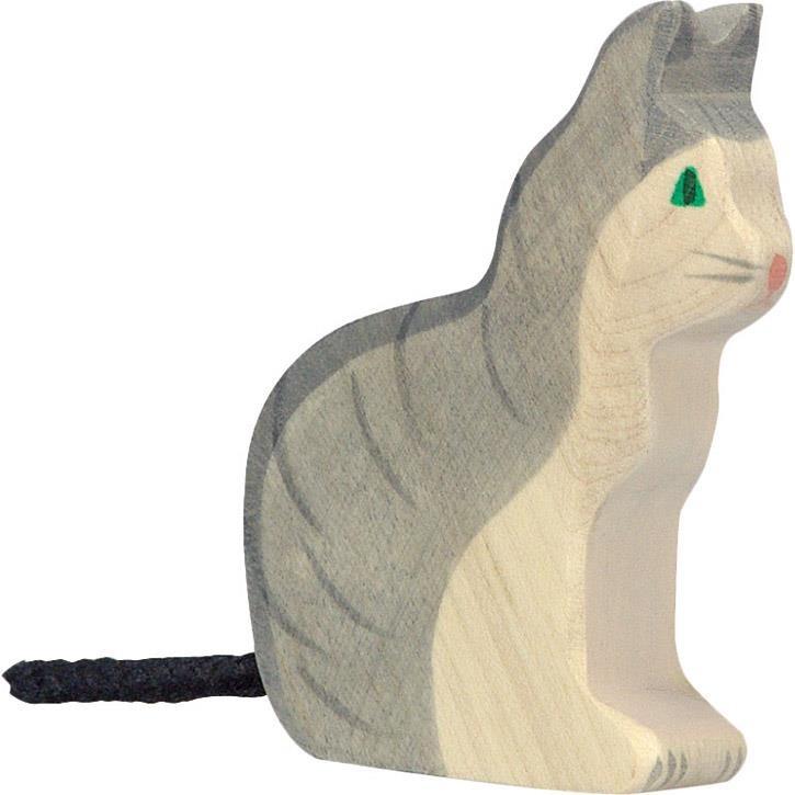 HOLZTIGER Katze, sitzend 80055 3+ Holz