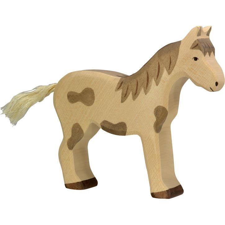 HOLZTIGER Pferd, stehend, gefleckt 80037 3+ Holz