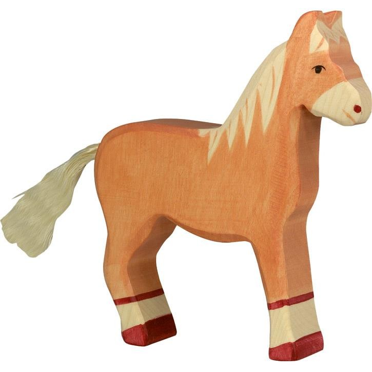 HOLZTIGER Pferd, stehend, hellbraun 80033 3+ Holz