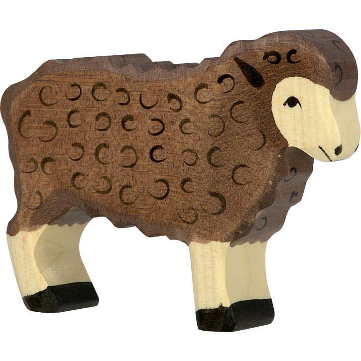 HOLZTIGER Schaf, stehend, schwarz 80075 3+ Holz