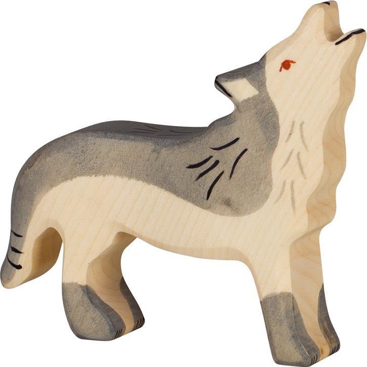 HOLZTIGER Wolf, heulend 80109 3+ Holz