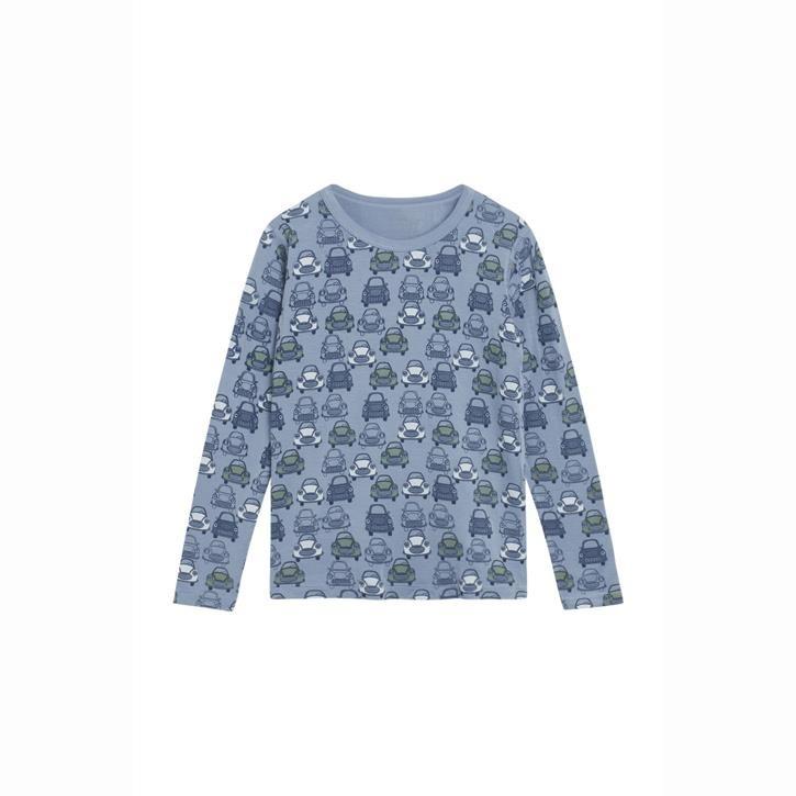 Hust & Claire Austin - Langarm Shirt Autos Blue ash 95% Bambus/5%EL