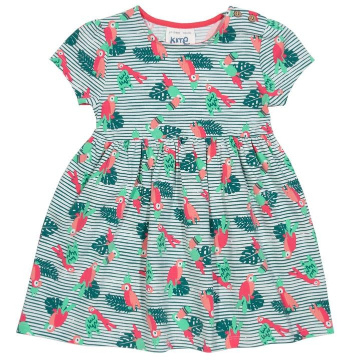 Kite Papageien Kleid (GOTS) Multi
