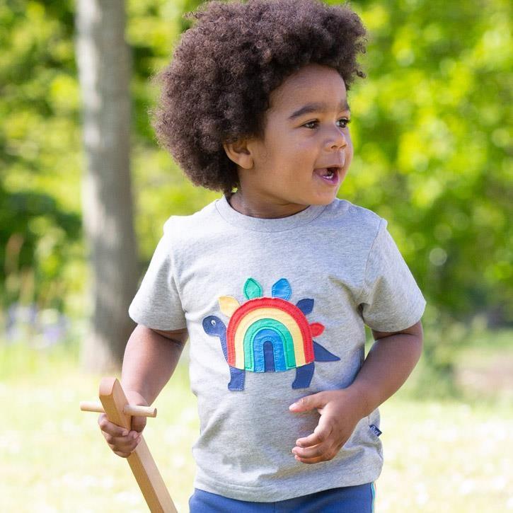 Kite Rainbow-saurus T-Shirt Grey