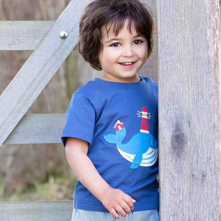 Kite Wonder whale T-Shirt Navy