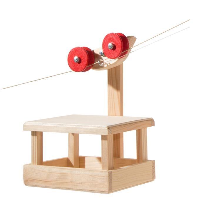 Kraul Große Seilbahn Wagen mit 2x20m Seilen (Grundkasten) 1110 Spiel Gut