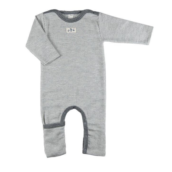 Lilano Anzug mit Beinumschlag grau-ringel