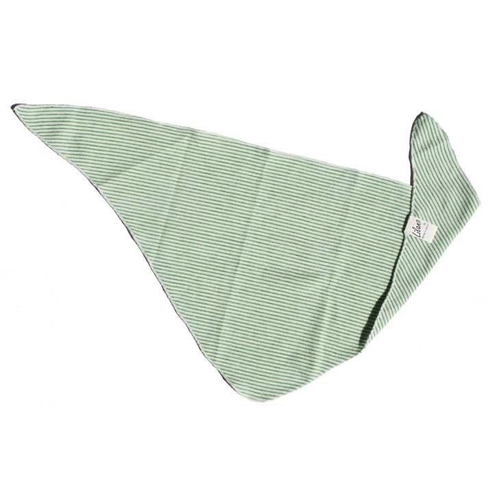 Lilano Dreieckstuch grün-ringel