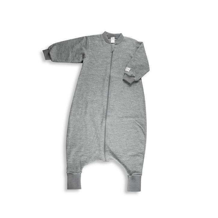 Lilano Schlafsack UNI mit Füßen Wolle Seide