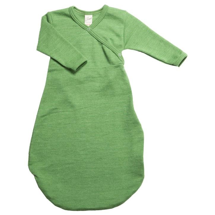 Lilano Schlafsack Wickelform grün Wolle/Seide