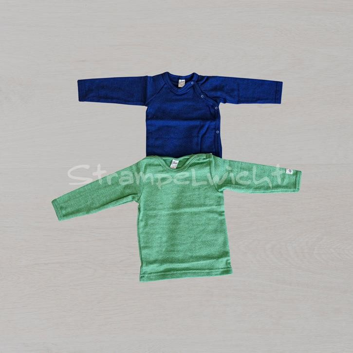 Lilano Shirt 1/1-Arm mit seitlicher Knopfleiste blau / grün