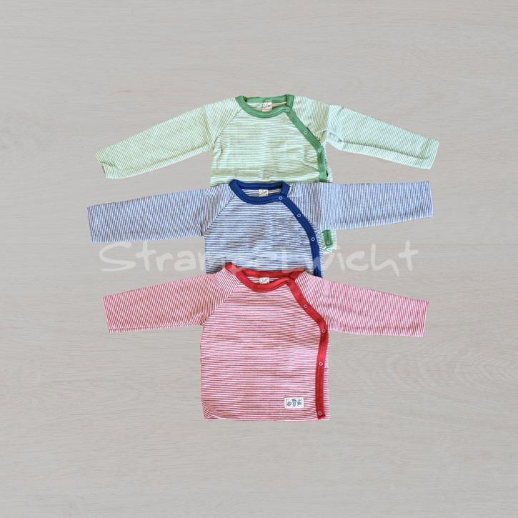 Lilano Shirt 1/1-Arm mit seitlicher Knopfleiste blau grün rot-Ringel